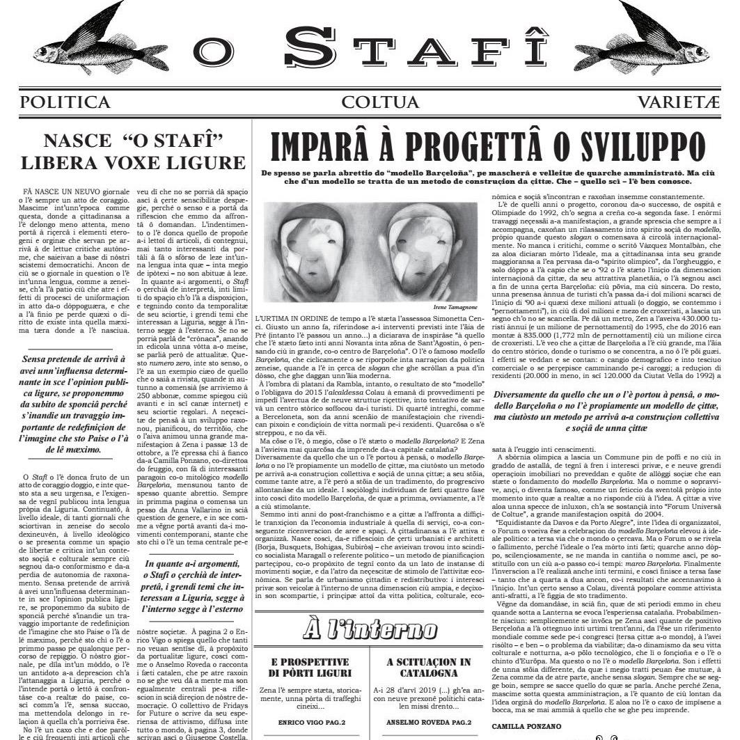 """Read more about the article """"O Stafì"""", l'informazione in genovese"""
